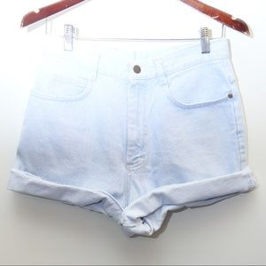 90's Vintage LEE High Waist Light Blue Jean Shorts